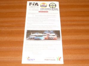 BRAGA  FIA Euro Touring cars Oct 25 2009 program